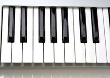 Musical keyboard. Keys on a keyboard (piano Stock Images