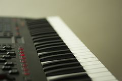 Musical keyboard instrument close up composition photography Royalty Free Stock Images