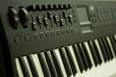 Musical keyboard instrument close up composition photography Royalty Free Stock Photo