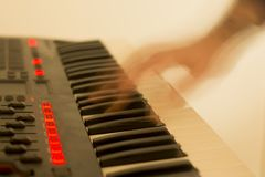 Musical keyboard instrument close up composition photography Royalty Free Stock Photos