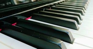 Piano keyboard. The musical keyboard of a piano stock photography