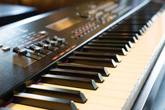Musical keyboard synthesizer Stock Image