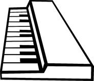 musical keyboard vector instrument Royalty Free Stock Photo
