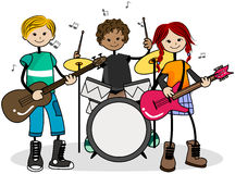 Musical Kids Royalty Free Stock Photo