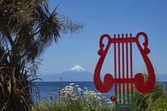 Musical landmark in the Lake District of southern Chile royalty free stock photo