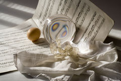 Musical lighting. Art photos with glass sphere Stock Images