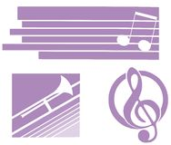 Set of Musical logos isolated Stock Photos