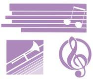 Musical logos isolated Stock Photos