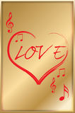 Musical Love Heart. This vecor Artwork is created in illustrator Stock Image