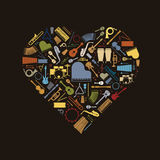Musical Love Vector Illustration Royalty Free Stock Photography