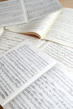 Musical manuscripts Stock Image