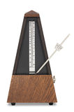 Musical metronome. With smooth shadow and clipping path for designers Stock Images