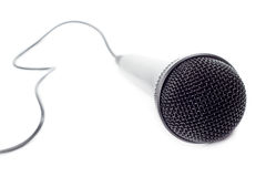 Musical microphone closeup Royalty Free Stock Photography
