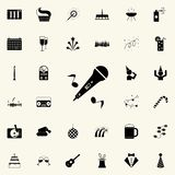 musical microphone with notes icon. Party icons universal set for web and mobile vector illustration