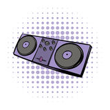 Musical modern instrument mixing console icon Royalty Free Stock Images