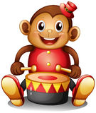 A musical monkey toy stock illustration