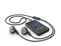 Musical mp3 player Royalty Free Stock Photos