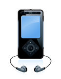 Musical mp3 player. Isolated on white Royalty Free Stock Photography