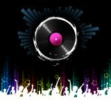 Musical Night. Illustration of cheering crowd dancing in musical night Royalty Free Stock Image