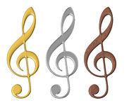 Musical Nodes - Isolated Royalty Free Stock Images