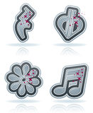 Musical notation Royalty Free Stock Images