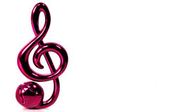 Musical Note. Photo of a Clef With Whitespace To The Right Royalty Free Stock Images