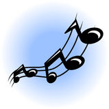 Musical note. Illustration Royalty Free Stock Images