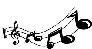 Musical note. Illustration Royalty Free Stock Photo