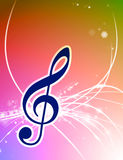 Musical Note on Abstract Background Stock Image