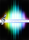 Musical Note on Abstract Spectrum Background Royalty Free Stock Photo