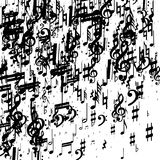 Musical note background vector illustration