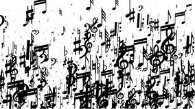 Musical note background stock illustration