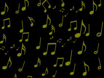 Musical note on black screen wallpaper. For your design stock illustration