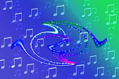 Musical note concept. Full color abstract background with  Musical note concept Stock Images
