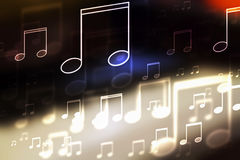 Musical note concept. Full color abstract background with  Musical note concept Royalty Free Stock Image