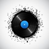 Musical Note from Disc Royalty Free Stock Images