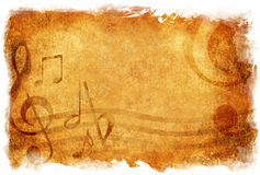 Musical note ,grunge style Stock Images