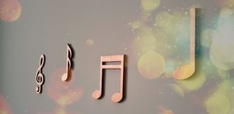 Musical note from house stock images
