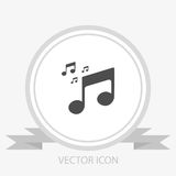 Musical note icon vector Royalty Free Stock Photo