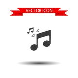 Musical note icon vector Stock Image