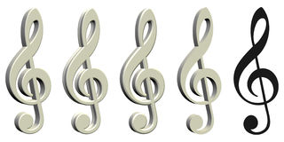 Musical Note - Isolated Stock Photos