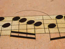 Musical note pattern. In the music square in qingdao city Shandong province China Royalty Free Stock Image