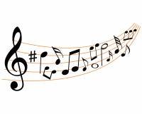 Musical note rhythm logo Stock Image