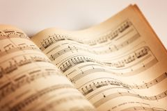 Musical Note. Sheet Music Music Musical Staff Book Bar Page Royalty Free Stock Images