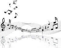 Musical note staff Stock Images