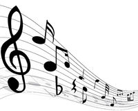 Musical note staff Royalty Free Stock Photo