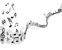 Musical note staff Stock Photo