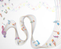 Musical note staff Royalty Free Stock Photos