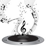 Musical note staff Stock Photos