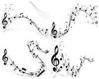 Musical note staff set Stock Photography